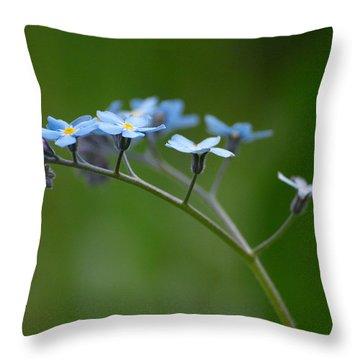Forget-me-not 2 Throw Pillow by Jouko Lehto