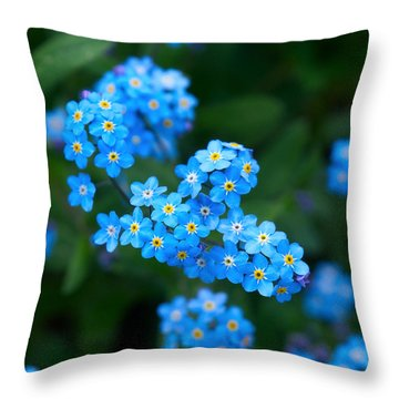 Forget -me-not 5 Throw Pillow by Jouko Lehto