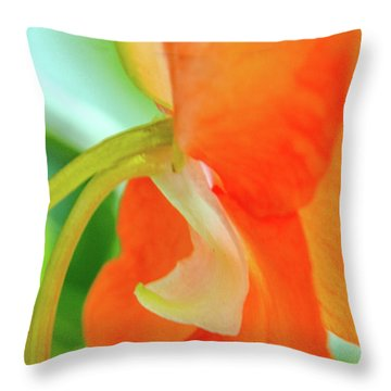 Throw Pillow featuring the photograph Forget Me Not by Bill Gallagher