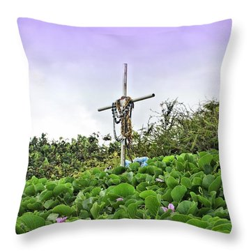 Throw Pillow featuring the photograph Forget Me Not by DJ Florek