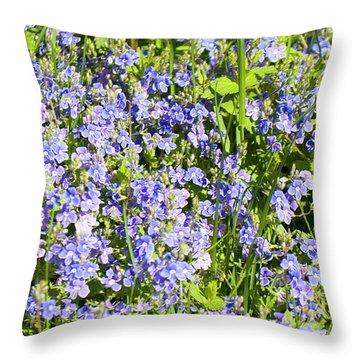 Forget-me-not - Myosotis Throw Pillow