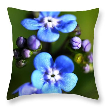 Forget-me-not Throw Pillow by Noah Cole