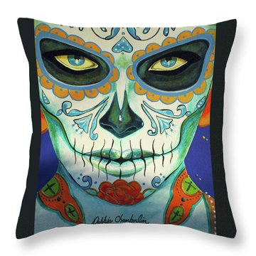 Forget Me Not Portrait 01 Throw Pillow