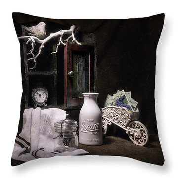 Forget Me Not Still Life Throw Pillow