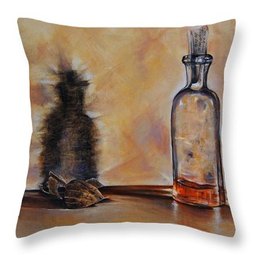 Forgetting Is So Long Throw Pillow by Jean Cormier