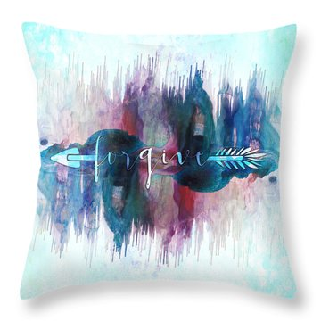 Forgive Arrow Throw Pillow