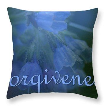 Forgiveness Blue Bells Throw Pillow