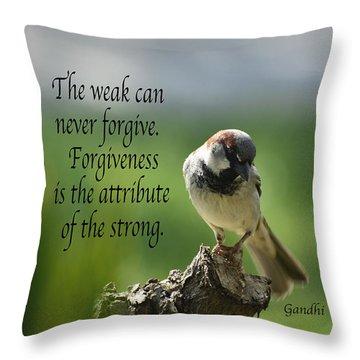 Forgiveness Throw Pillow by Debby Pueschel