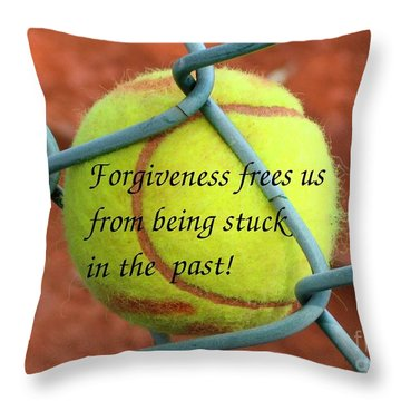 Throw Pillow featuring the photograph Forgiveness Frees Us by Yali Shi