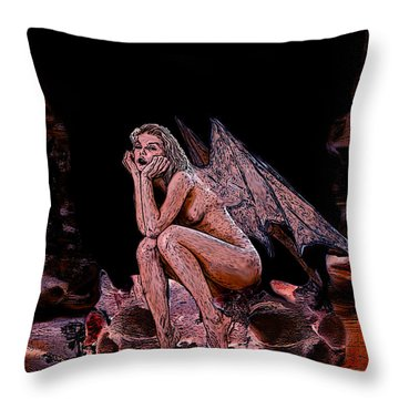 Forgotten Angel Throw Pillow by Tbone Oliver
