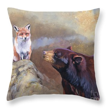 Forgotten Bear Tales Throw Pillow
