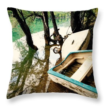 Forgotten Boats Throw Pillow
