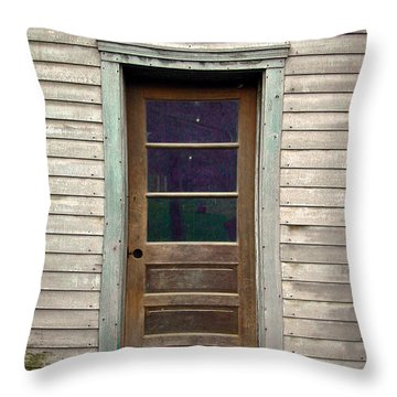 Forgotten Door Throw Pillow