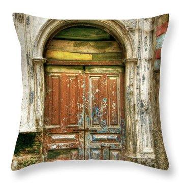 Forgotten Doorway Throw Pillow