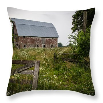 Forgotten Farm  Throw Pillow by Off The Beaten Path Photography - Andrew Alexander