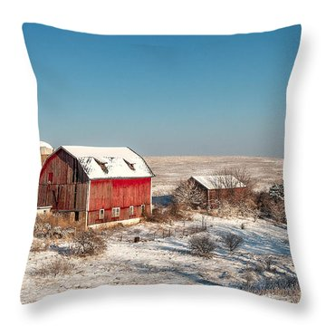Forgotten Farm Throw Pillow