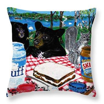 Forgotten Fluffernutter Throw Pillow
