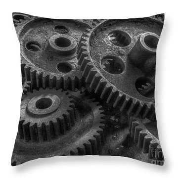 Forgotten Gears Throw Pillow