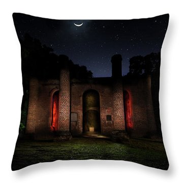 Throw Pillow featuring the photograph Forgotten Gods by Mark Andrew Thomas