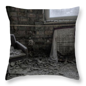 Throw Pillow featuring the digital art Forgotten Ideologies by Nathan Wright