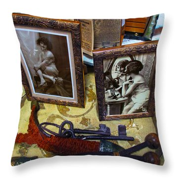 Forgotten Ladies Throw Pillow