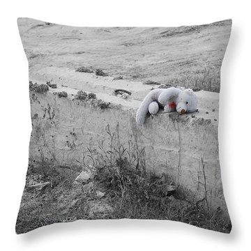 Throw Pillow featuring the photograph Forgotten by Maggy Marsh