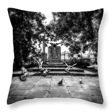 Forgotten Monument Throw Pillow