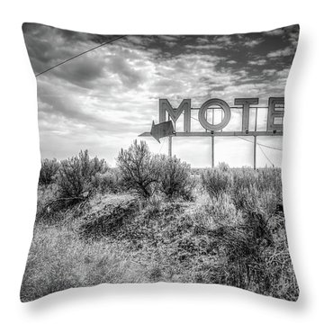 Forgotten Motel Sign Throw Pillow by Spencer McDonald