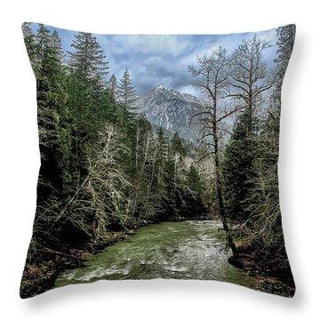 Forgotten Mountain Throw Pillow