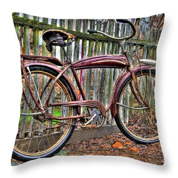 Throw Pillow featuring the photograph Forgotten Ride 1 by Jim and Emily Bush