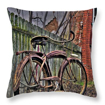 Throw Pillow featuring the photograph Forgotten Ride 2 by Jim and Emily Bush
