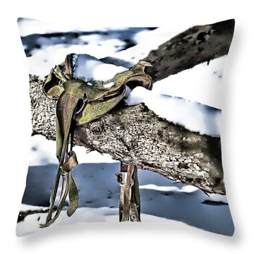 Forgotten Saddle Throw Pillow
