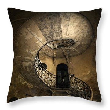 Forgotten Staircase Throw Pillow