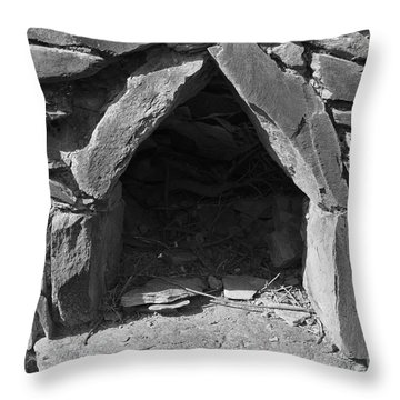 Forgotten Stone Oven In Alentejo Throw Pillow by Angelo DeVal
