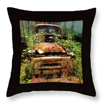 Throw Pillow featuring the photograph Forgotten by Thom Zehrfeld