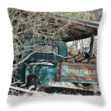 Forgotten Truck Throw Pillow