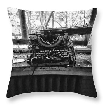 Forgotten Words Throw Pillow