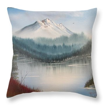 Fork In The River Throw Pillow by Thomas Janos