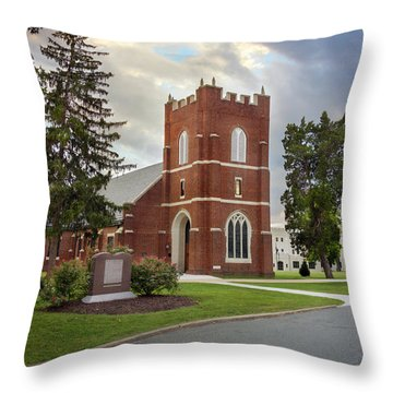 Fork Union Military Academy Wicker Chapel Sized For Blanket Throw Pillow