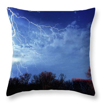 Forked Lightning Throw Pillow