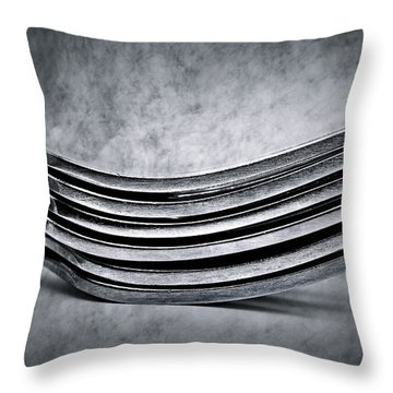Forks - Antique Look Throw Pillow