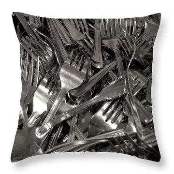 Forks Throw Pillow by Henri Irizarri