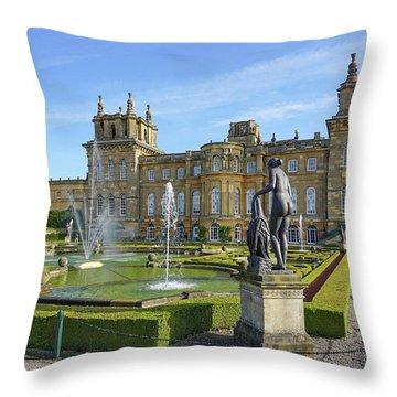 Formal Garden Blenheim Palace Throw Pillow