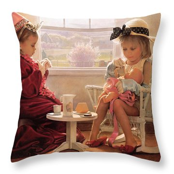 Throw Pillow featuring the painting Formal Luncheon by Greg Olsen