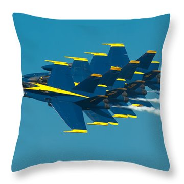 Formation Throw Pillow by Sebastian Musial