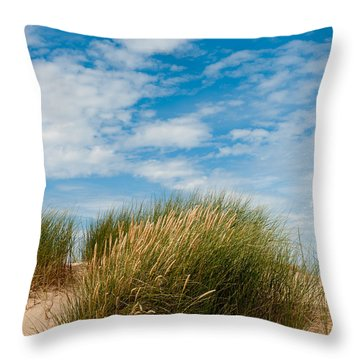 Formby Sand Dunes And Sky Throw Pillow