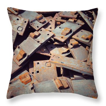 Former Joints Throw Pillow by Olivier Calas