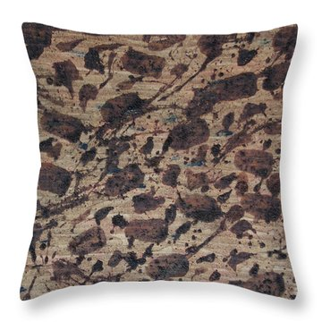 Forms Of Coffee Throw Pillow by TB Schenck