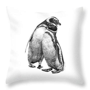 Forrest And Jenny The Penguins Throw Pillow