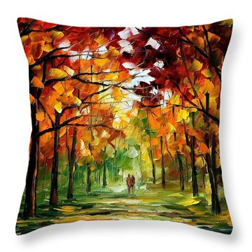 Forrest Of Dreams Throw Pillow by Leonid Afremov